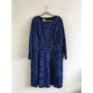 BLUE FLORAL DRESS 18W